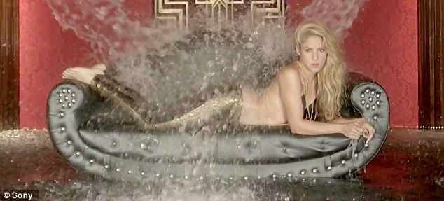 Mermaids are real!The video for Chantaje takes an edgy approach as the single shot only sees the stunning star lying on her front on a sofa in a suggestive fashion