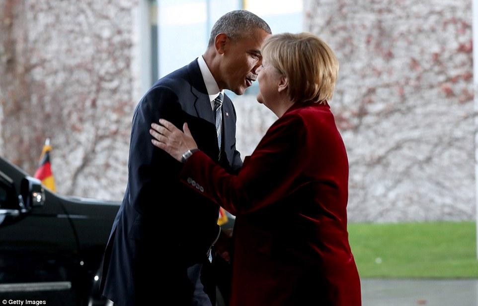 Benvenuti: Il presidente Obama è il suo ultimo viaggio in Europa e in precedenza aveva reso omaggio alla Merkel dicendo che aveva servito bene il suo paese
