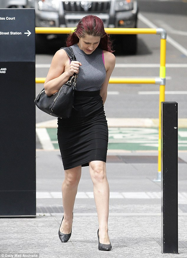 Jenna Louise Driscoll, 27, arrives at the Brisbane District Court in Queensland on Friday