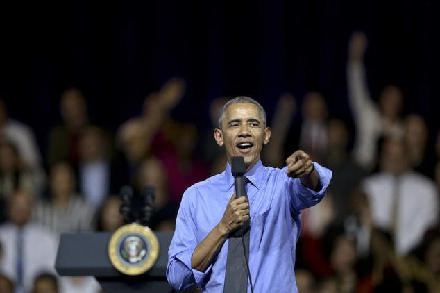 U.S. President Barack Obama speaks at a town hall with Young Leaders of the Americas Initiative