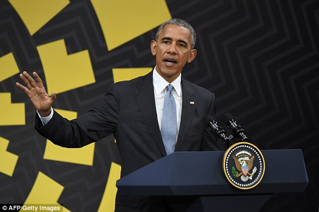 Obama said that politics in America 'right now are a little up for grabs' and Democrats 'have to do some thinking'