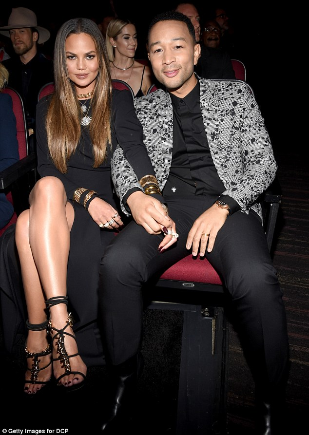 Power couple: The twosome were a striking couple at this year's awards show