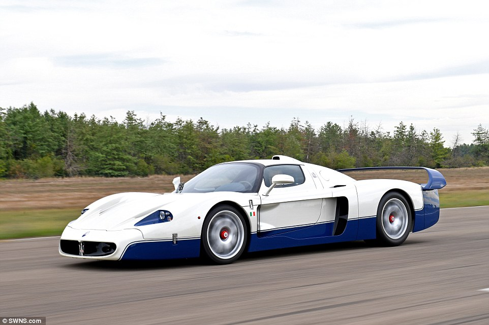 A £1.1million Maserati MC12 (pictured) is also up for grabs after the vehicles were seized from an Italian businessman