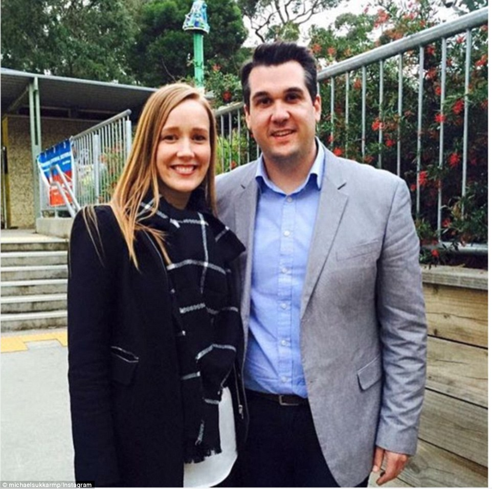 Mr Sukkar, (pictured with wife) Liberal MP for Deakin in Victoria, reportedly said Mr Dutton was 'spot on' when he claimed that 66 per cent of Australia's last 33 terrror offences were committed by 2nd and 3rd generation Lebanese Muslims