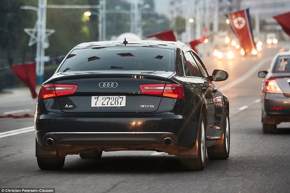 After 2009 it became difficult for the regime to rule with an iron fist over products or private wealth. There was an increase in toleration. Above, a local drives an Audi A6 through the streets of the capital