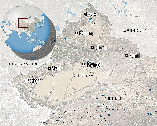 Xinjiang is located in north west China