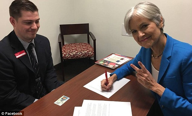 Wisconsin will recount its presidential election votes after receiving a petition from trounced Green Party candidate Jill Stein (right) on Friday
