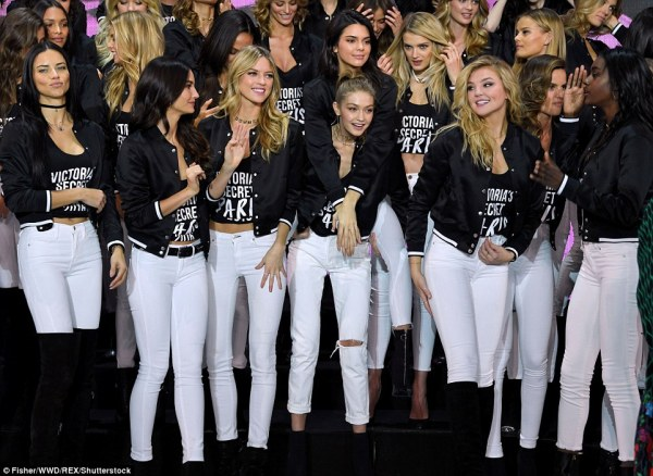 BFFs! Kendall and Gigi cosied up as the rest of the girls looked like they were having a whale of a time