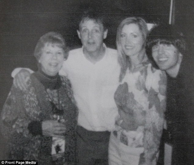 During her time with The Beatles, Louise says one of her favorite memories was getting to know John, Paul and Ringo's personalities intimately. Pictured above, she smiles with Paul McCartney and two unidentified people