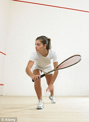 Playing squash, tennis or badminton reduces the risk of death by 47 per cent