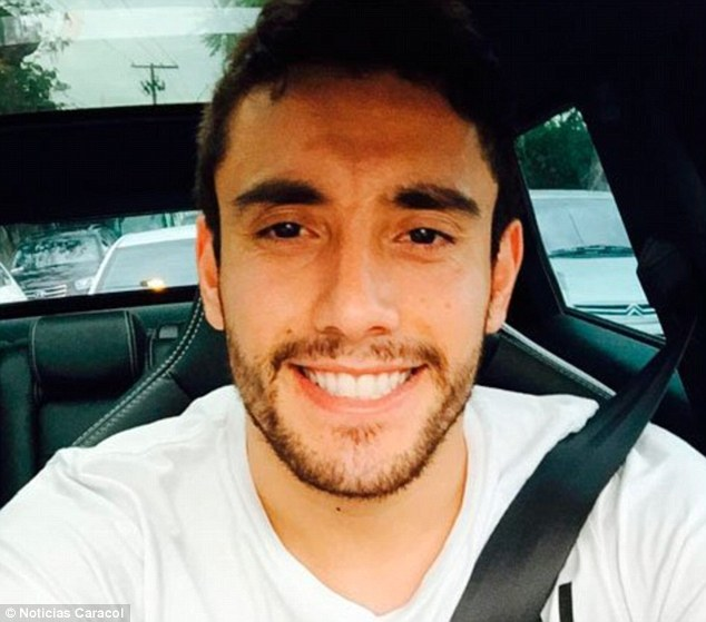 Ruschel (pictured) was one of just six survivors from the crash and is now being treated in hospital for a fractured spine