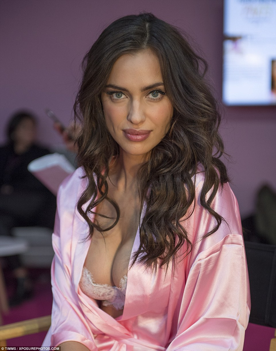 Smouldering:Victoria's Secret debut Irina Shayk showed off her stunning good looks in front of the camera