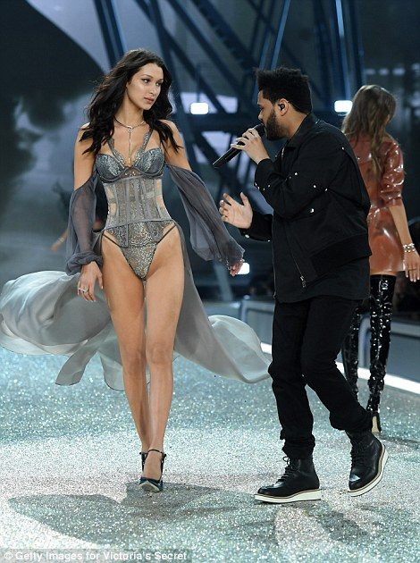 Bella Hadid walks past her recent ex boyfriend The Weekend