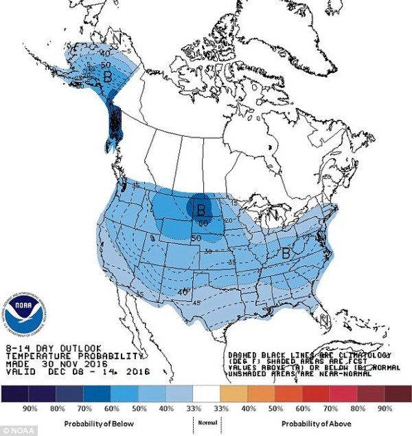 Western half of US to be hit with temperatures of up to 30 ...