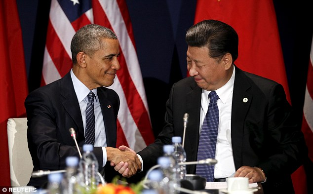 The US officially supports China's position that Taiwan is part of its country. Trump's phone call on Friday strayed from the government's previous avoidance of any forthright contact with Taiwan. Above, President Obama and Chinese President Xi Jinping at a climate summit in Paris in November, 2015