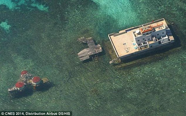 In 2014, aerial photographs revealed China was expanding on a recently reclaimed South Sea island