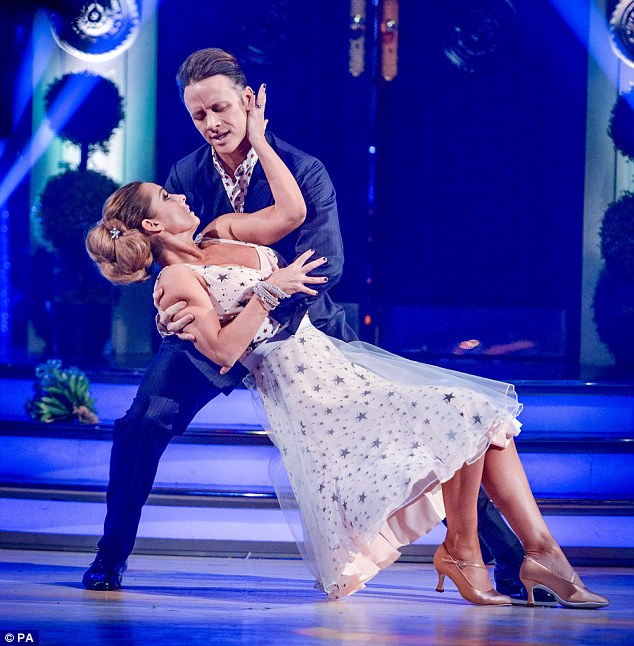 'Fertility king': Meanwhile, Louise recently joked that she's feeling the pressure to get pregnant as her Strictly partner is the 'fertility king'