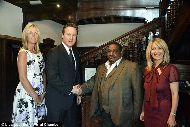 Connections: Asif Hamid with former prime minister David Cameron and former minister Esther McVey in 2008
