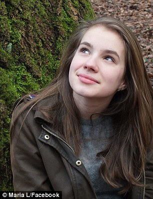 Hussein K., 17, has been linked by his DNA to the murder of Maria Ladenburger (pictured), 19, a medical student whose father is a legal adviser to the European Commission in Brussels