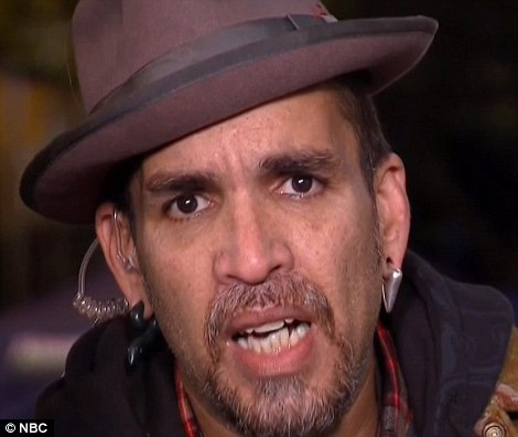 Responsible: Derick Ion Almena, 46, got angry as he was asked questions about the tragedy during a live TV interview. He was emotional from the start of his interview with the Today show's Matt Lauer and Tamron Hall, saying it wasn't a 'good morning' and that the only reason he was speaking was to say sorry. His wife, Micah Allison, cried on television on Monday night