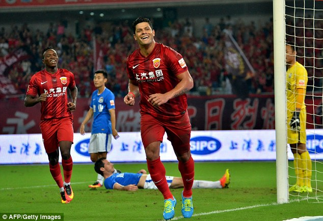 Oscar will join compatriot Hulk, who earns £320,000-a-week at Shanghai SIPG