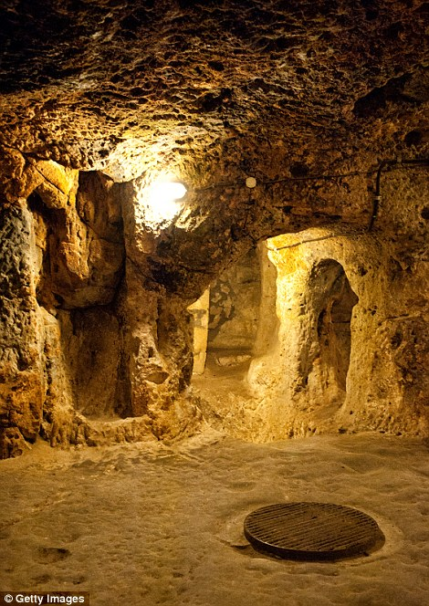 A storage room and storage pit were also uncovered in the underground city of Derinkuyu