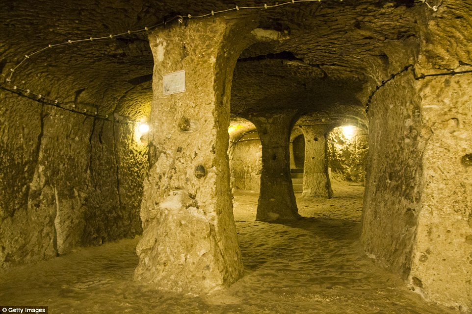 Another cave church was discovered within Derinkuyu, which is said to have been able to house 20,000 people