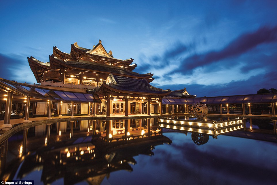 About an hour's drive from Guangzhou is Imperial Springs, a five-star retreat in the town of Conghua. Above, the entrance to the golf club