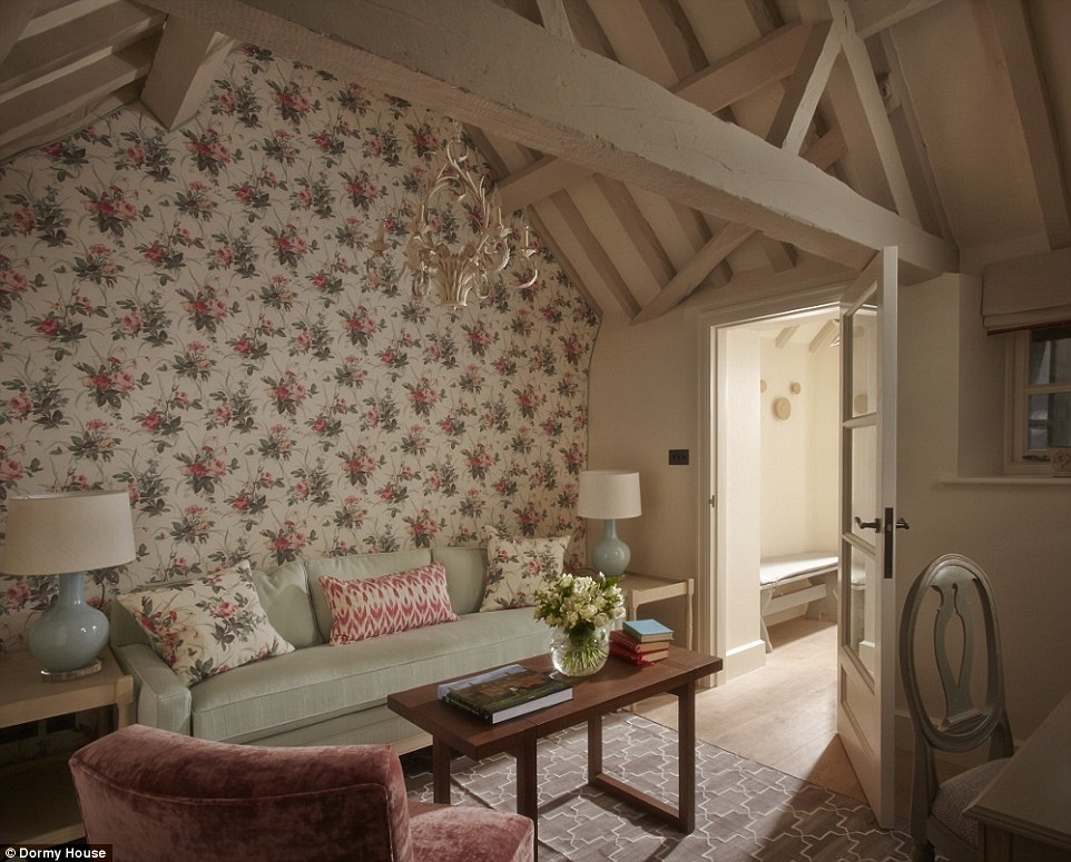 Privacy: The Rose Cottage, pictured, is a traditional Cotswold cottage with its own private courtyard and hot tub