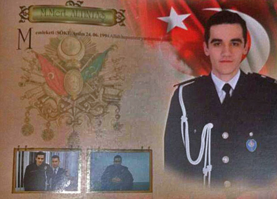 Details of the killer were soon shared on social media showing him in his police uniform