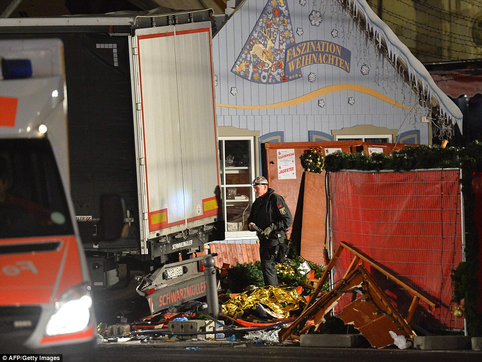 The vehicle maneuvered from Budapester Strasse onto the area outside the Memorial Church before ploughing into the crowd
