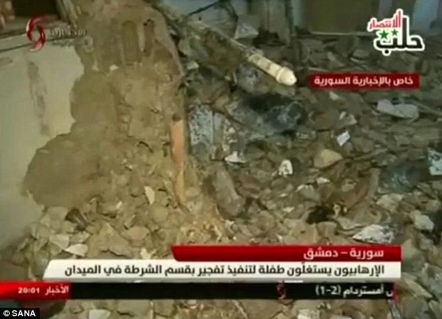A police source told Al-Watan that the little girl had appeared lost and asked to use the bathroom before the explosives went off