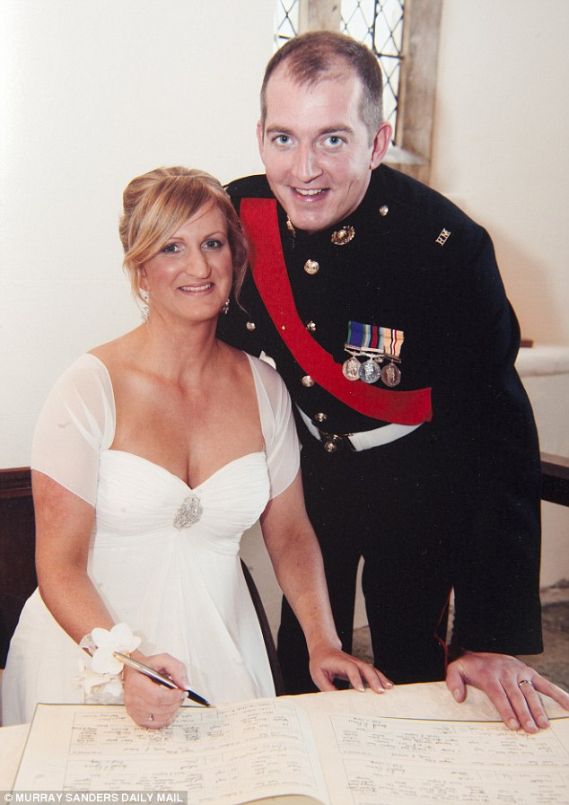 Christmas apart: Alexander Blackman and his wife Claire