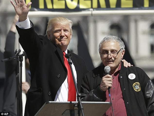 Carl Paladino (above in 2014 with Trump) said he hopes 'Obama catches mad cow disease after being caught having relations with a Herford'