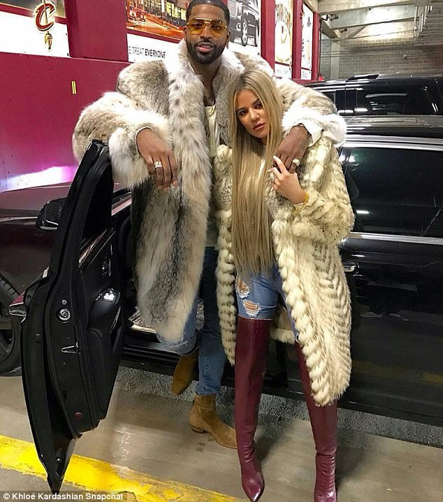 Image result for cavs tristan thompson and khloe kardashian