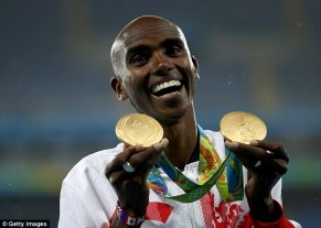 Mo Farah, the quadruple Olympic champion, has also been given a knighthood