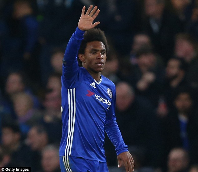 Willian scored two goals in Chelsea's win after replacing the suspended Pedro
