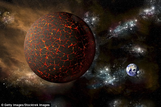 The world could be set to end in October this year, when a giant mysterious planet called Nibiru (artist's impression pictured) collides with our own - according to one conspiracy theorist