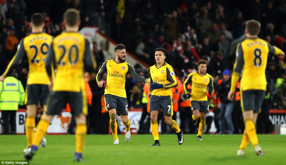 Arsenal came back from 3-0 down to draw 3-3 in the Premier League on Tuesday night at Bournemouth