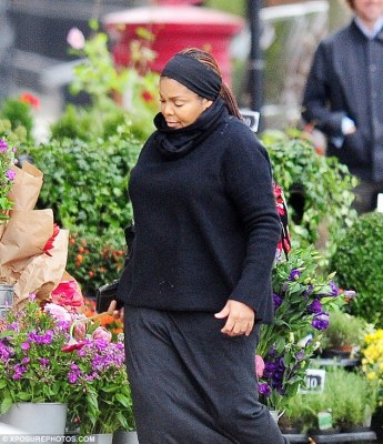 Baby joy at 50: Janet Jackson, pictured in London in October, has given birth to her first child