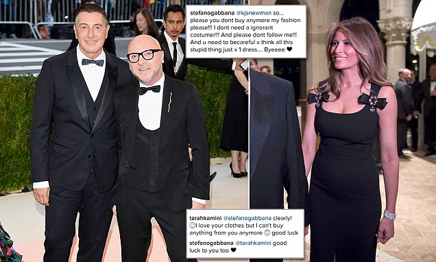 Dolce & Gabbana designer praises Melania Trump for wearing their dress