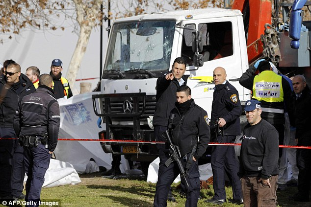 Israeli police confirmed the killer trucker has been 'neutralised' following the attack