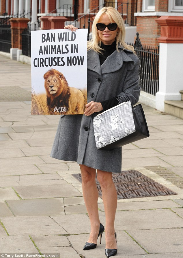 Recognized: The dedicated animal rights activist was recently recognized by PETA for her dedication to the cause as she was named the charity's 2016 Person Of The Year