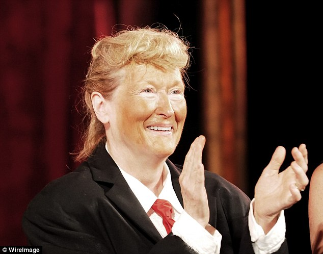 Streepdressed up as Donald Trump (above) at the annual Shakespeare in the Park gala in New York City this past June