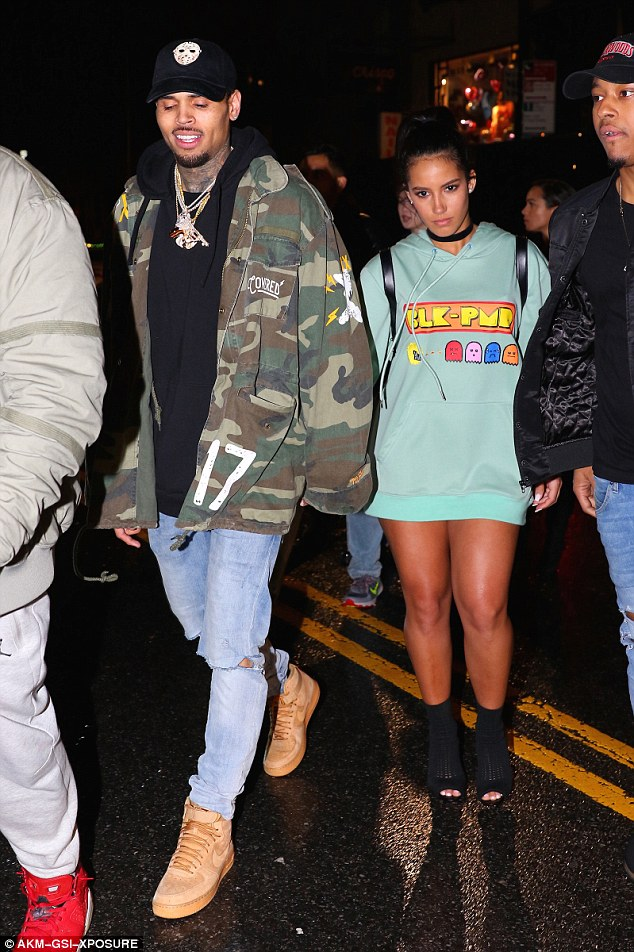 Chris Brown Leaves Club With Mystery Woman And Rihanna