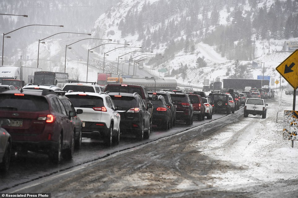 In Colorado, an avalanche swept across a highway that is a key route to the popular Vail ski resort, blocking access for some skiers heading to the mountain and trapping three commercial trucks, authorities said Tuesday. Traffic on Interstate I-70 in Denver