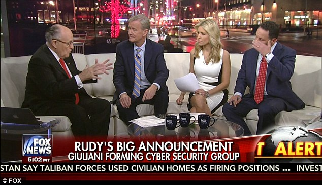 Image result for photos of rudy giuliani on fox tv
