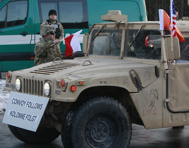 The GIs are part of deterrence force of some 1,000 troops to be based in Zagan