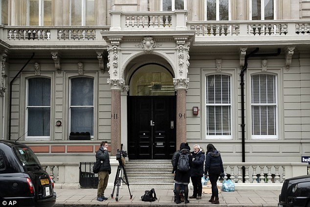 The Belgravia building where offices of Orbis Business Intelligence Ltd are located, in central London