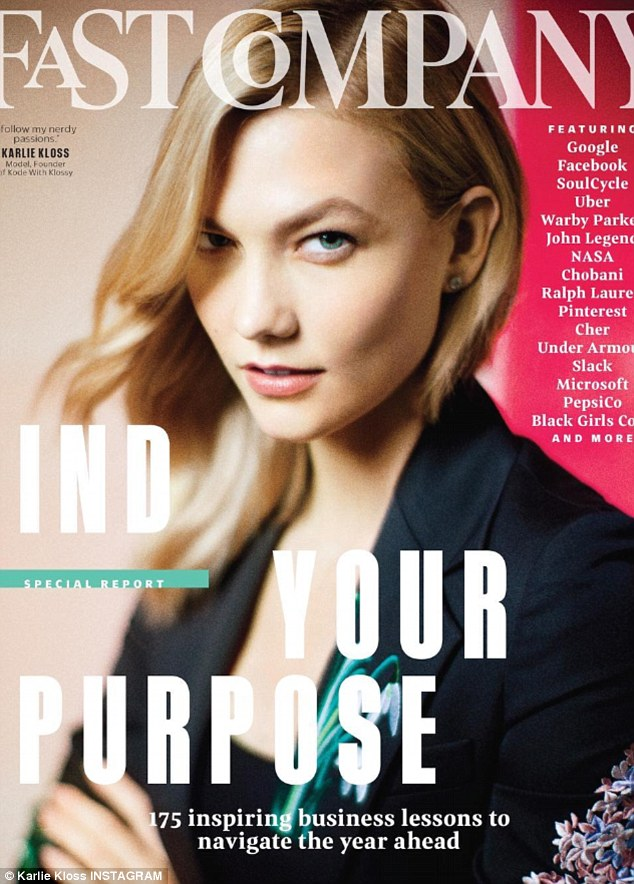 Karlie Kloss Is In Fine Spirits As She Models Leather